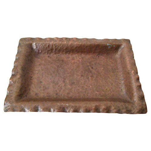 Arts & Crafts Hammered Copper Tray