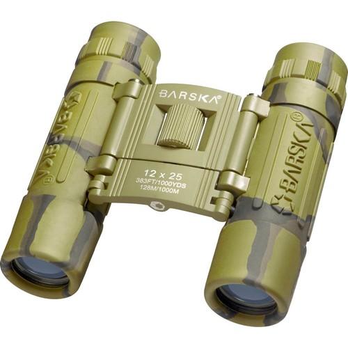 Barska 12x25 Lucid View Binoculars, Camouflage