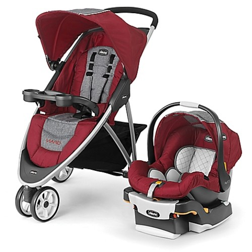Chicco Viaro Travel System in Cranberry