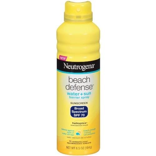 Neutrogena Sunscreen, Water + Sun Barrier Spray, Broad Spectrum SPF 70 6.5 oz (184 g)