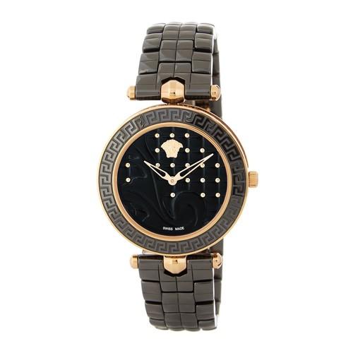 Women's Vanitas Black Quilted Bracelet Watch, 40mm