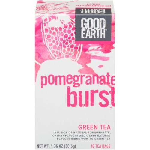 Good Earth Green Tea, Pomegranate Burst, 18 Count Tea Bags (Pack of 6)