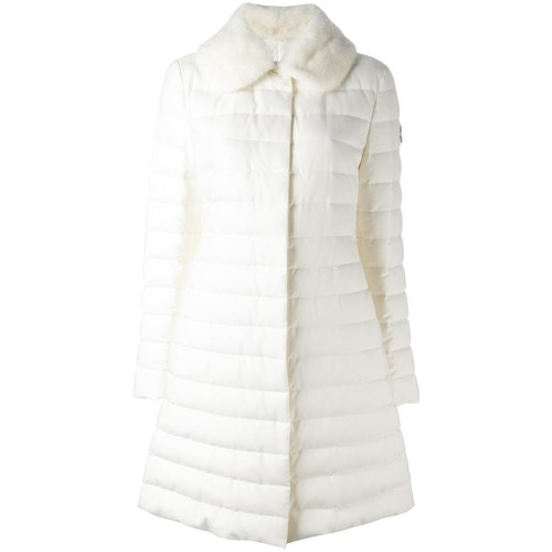 MONCLER GAMME ROUGE Faux Fur Collar Puffer Coat