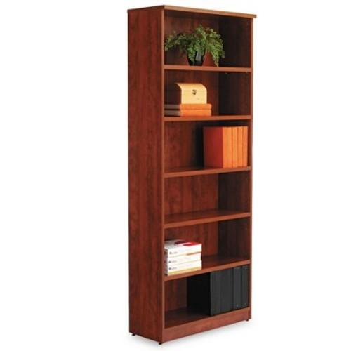 Alera VA638232MC Alera Valencia Series Bookcase, Six-Shelf, 31 3/4w x 14d x 80 3/8h, Med Cherry [Medium Cherry, Six-Shelf]