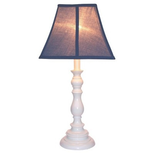 Creative Motions White Resin Table Lamp - Navy Blue