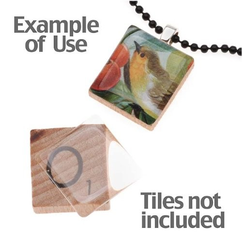 50 Epoxy Stickers - Fits Scrabble Tiles Or Pendants 18.5x20.4mm