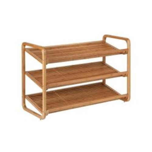 Honey-Can-Do 3-Tier 9-Pair Deluxe Shoe Shelves in Bamboo