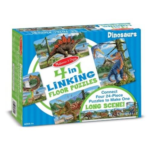 Melissa & Doug Dinosaurs 4-in-1 Jumbo Linking Jigsaw Floor Puzzle (96pc, 5 feet long)