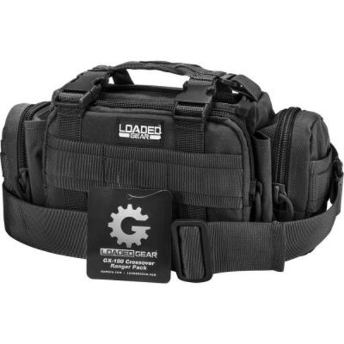 BARSKA Loaded Gear GX-100 Small 8 in. Black Ballistic Nylon Crossover Ranger Pack