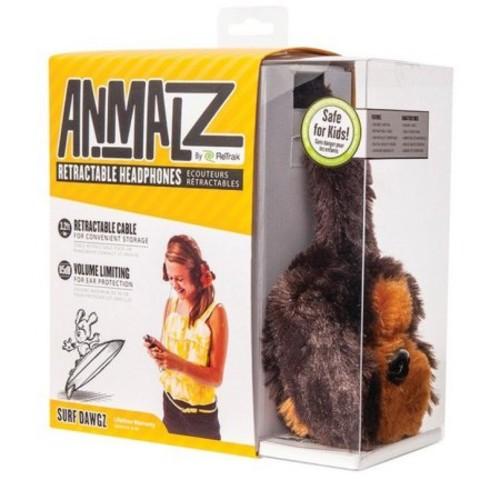 ReTrak(R) ETAUDFDOG Retractable Animalz Headphones (Dog)