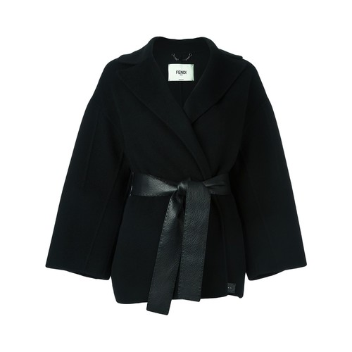 FENDI Belted Wrap Coat