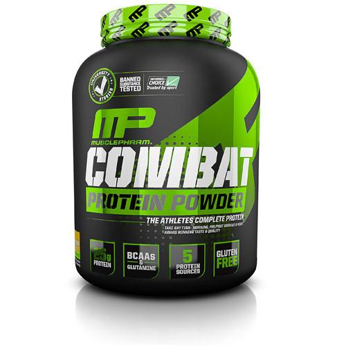 Muscle Pharm Combat Protein Powder Banana Cream 4 lbs