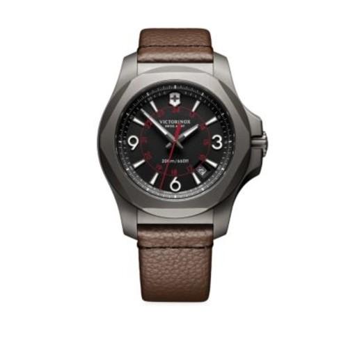 Inox Titanium & Leather Watch
