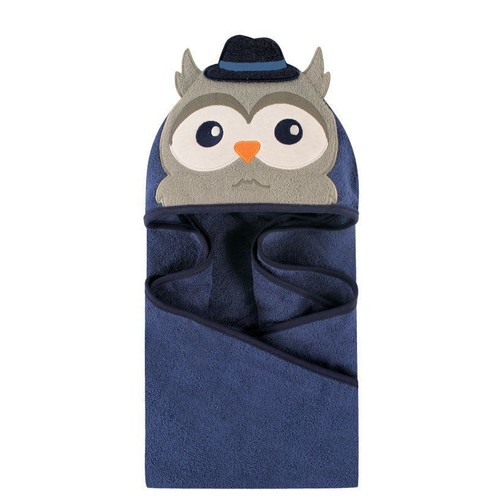 Hudson Baby Mr. Owl Animal Face Hooded Towel