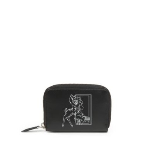 GIVENCHY Bambi Mini Leather Zip Wallet