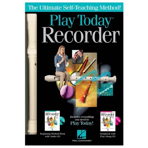 Hal Leonard - Play Recorder Today! Recorder with Instructional Book and CD - Multi