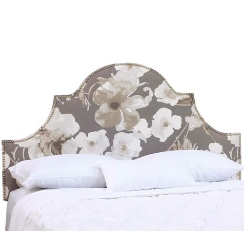 Skyline Furniture Arch Nail Button Floral FullHeadboard