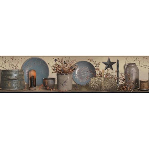 York Wallcoverings Country Keepsakes Simple Blessings Wallpaper Border
