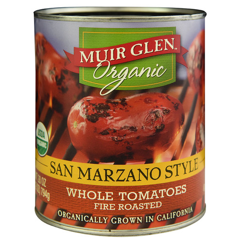 Muir Glen Organic Whole Tomatoes San Marzano Style Fire Roasted -- 28 oz