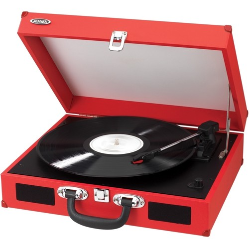 JENSEN - Portable 3-Speed Stereo Turntable with Built-in Speakers - Multi