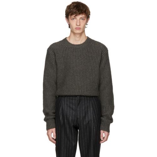 STELLA MCCARTNEY Taupe Mohair Crewneck Sweater