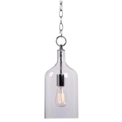 Kenroy Home 91831CLR Capri 1 Light Chrome Mini Pendant