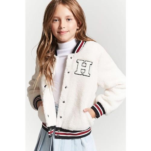 Girls Faux Shearling Varsity Jacket (Kids)