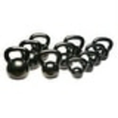 Body-Solid Kettle Bell Set Singles 5-50lbs in Black