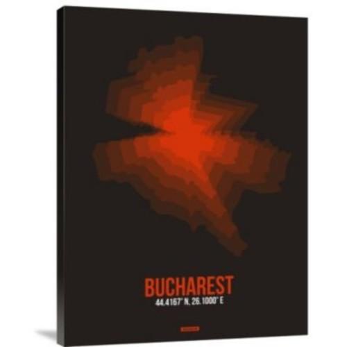 Naxart 'Bucharest Radiant Map 1' Graphic Art Print on Canvas; 16'' H x 12'' W x 1.5'' D