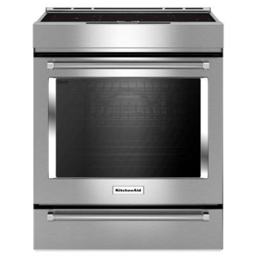 KitchenAid 7.1 cu. ft. Slide-In Induction Range with Self-Cleaning Convection Oven in Stainless Steel