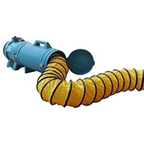XPOWER 25 Ft. Ducting Hose with Carrier (8DHC25)