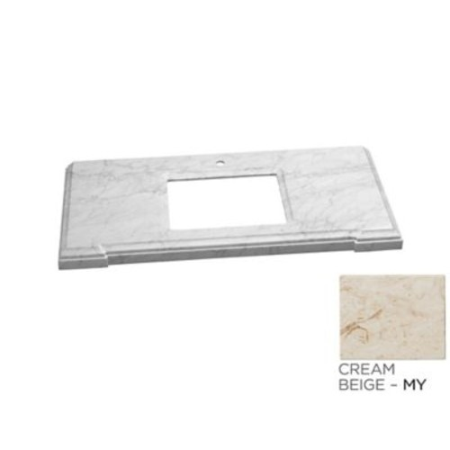 Ronbow Torino Undermount Sink Cutout 31'' Single Bathroom Vanity Top; Cream White Marble