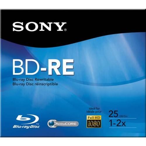 Sony BNE25RH Blu-ray 25GB Rewritable Disc Media, 2X BNE25RH/2