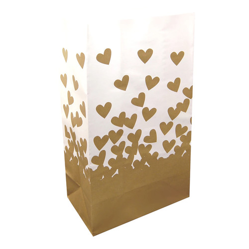 LumaBase 24-pk. Hearts Paper Luminaria Bags - Indoor & Outdoor