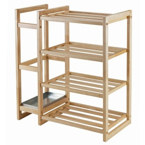 Winsome Isabel 84427 Shoe Rack with Umbrella Stand and Tray, Natural