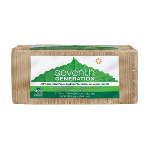Seventh Generation 100% Recycled Napkins, Brown