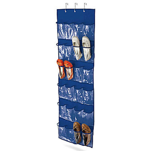 Honey Can Do 24 Pocket Over the Door Shoe Organizer White