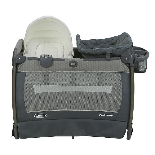 Graco Pack 'n Play Playard With Newborn Napper Oasis Station, Changing Table & Soothe Surround Technology - Davis