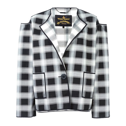 VIVIENNE WESTWOOD ANGLOMANIA Grid Check Boxy Jacket