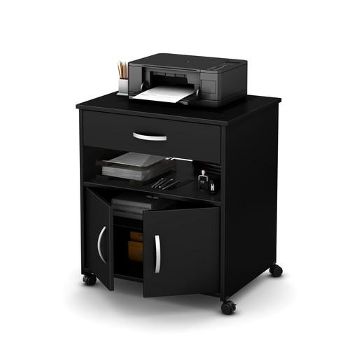 South Shore Axess Printer Cart on Wheels Multiple Colors
