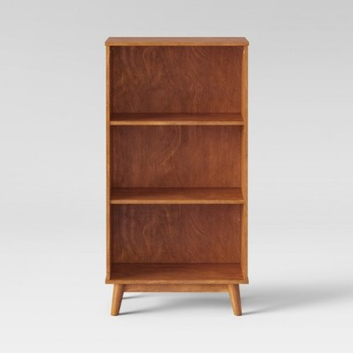 Porter Mid Century Modern 3 Shelf Bookcase