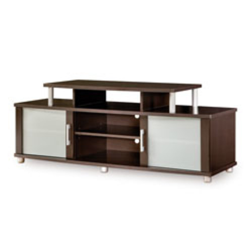 South Shore Furniture City Life TV Stand, Chocolate Finish