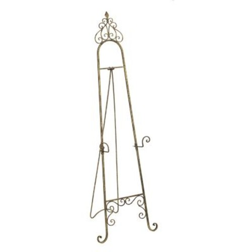 Tripar Metal Floor Easel in Gold/Black Finish 53