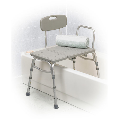 Drive Medical Three Piece Transfer Bench, Gray