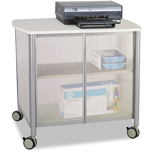 Safco Impromptu Deluxe Machine Stand with Doors, Gray