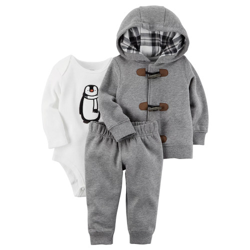 Carters Hoodie, Bodysuit and Pants Set - Baby Boys newborn-24m