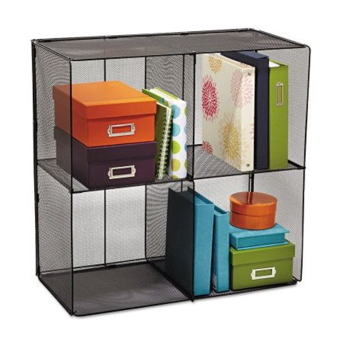 Safco Onyx Steel Mesh Cube with Compartments