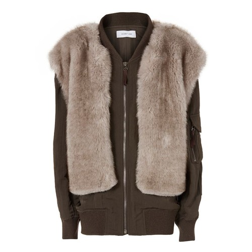HELMUT LANG Two-In-One Bomber Jacket & Faux Fur Vest