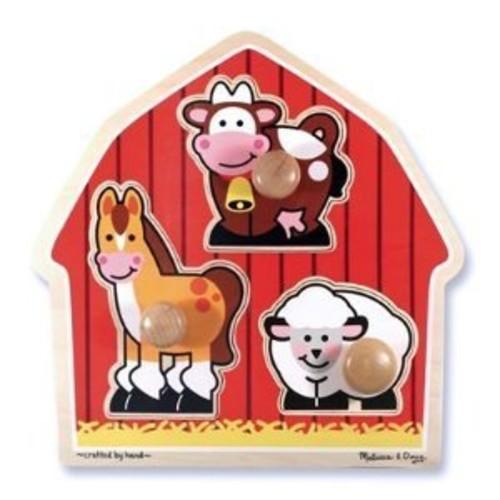 Melissa & Doug 2054 Barnyard Animals Knob Wooden Puzzle [Standard Version]