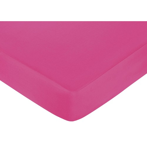 Sweet Jojo Designs Isabella Hot Pink, Black and White Collection Fitted Crib Sheet - Hot Pink